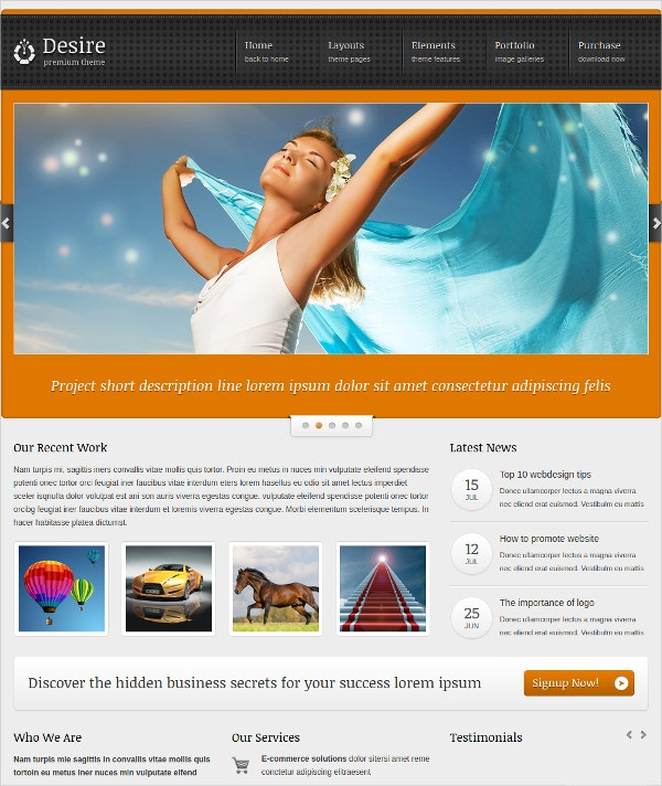 Photo Gallery Blog & Portfolio WordPress Theme for Business $44