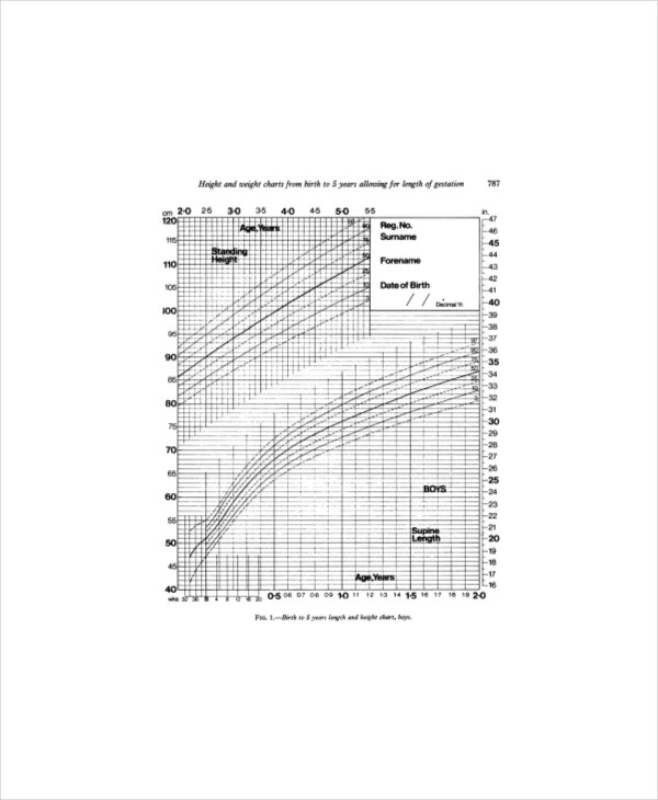 Pediatric Height Weight Chart - 5+ Free PDF Documents Download ...