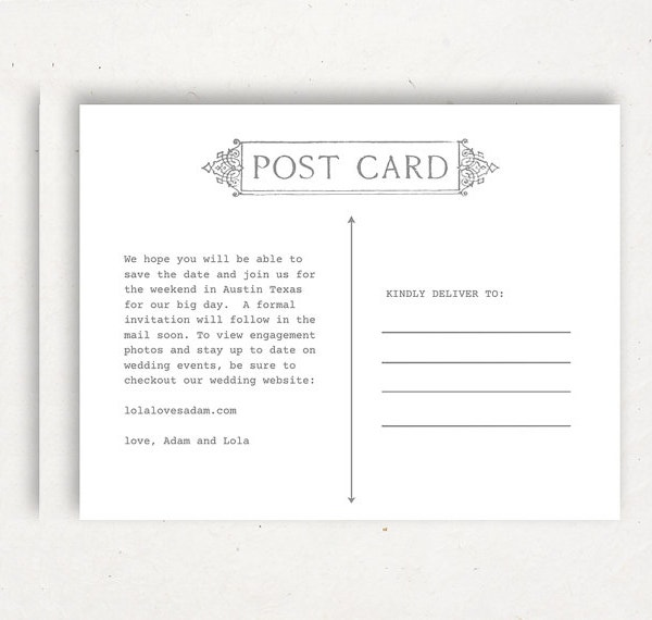 Printable Postcard Template