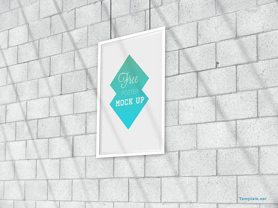 free poster design mock up 1