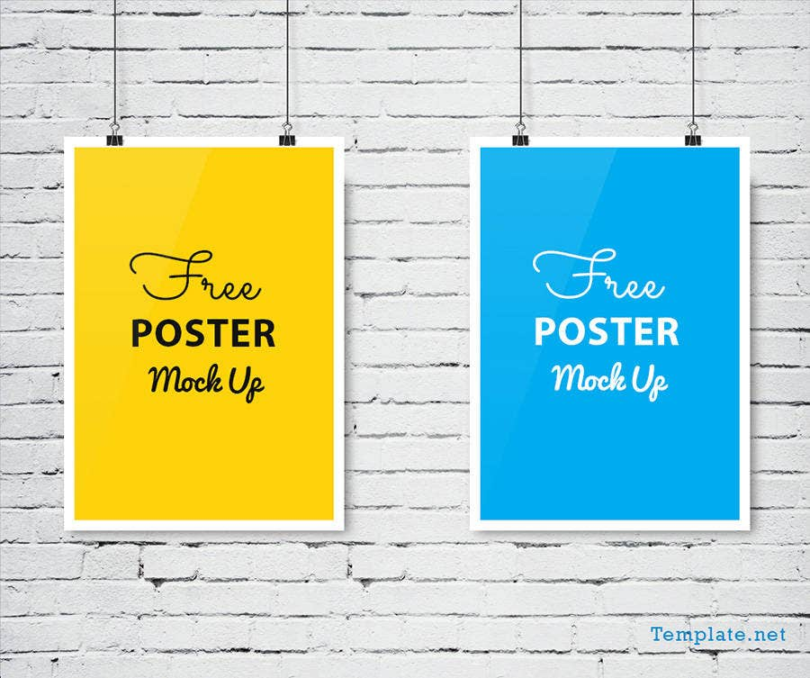simple designed poster mock up this free poster design