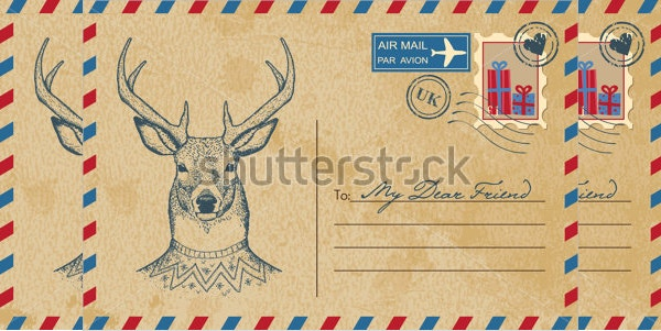 christmas postcard template