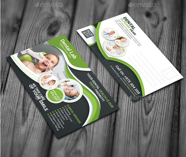 dentist postcard template