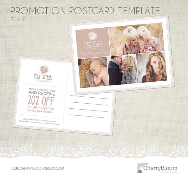 photographers postcard template