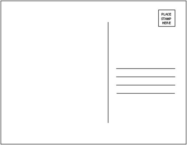 project postcard template