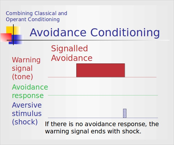 avoidance conditioning example