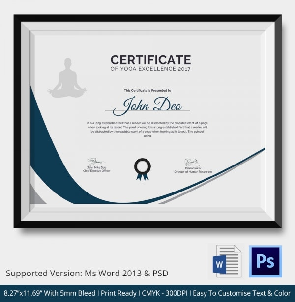 Certificate of Yoga Excellence