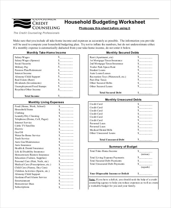 household-budget-planner-template