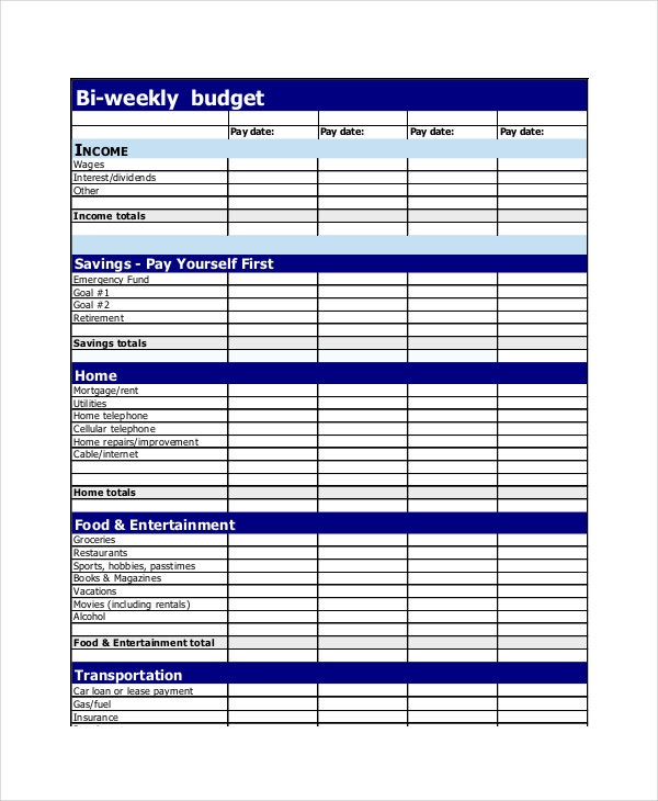Weekly Budget Plans  BesikEightyCo