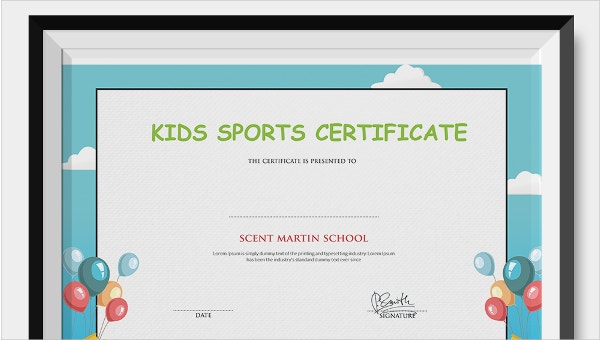 It is a photo of Free Printable Certificates for Kids in most improved