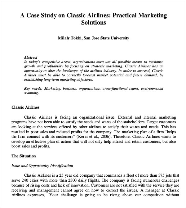 classic airlines marketing solution essay