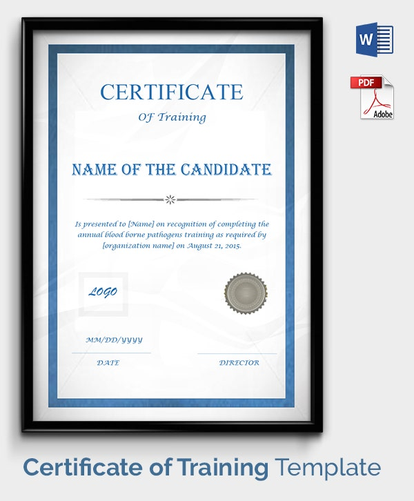 Free Training Certificate  Free Training Certificate Template