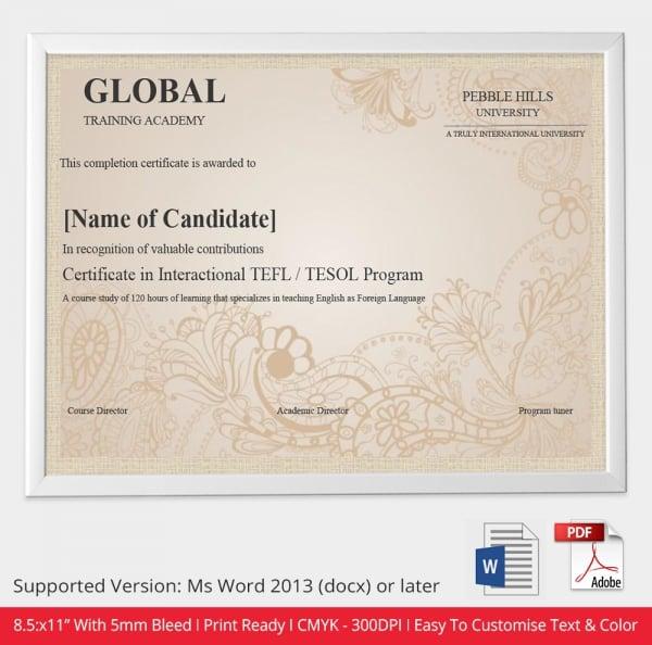 Certificate Presentation Template