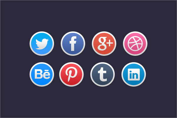 Stylish Social Media Icon