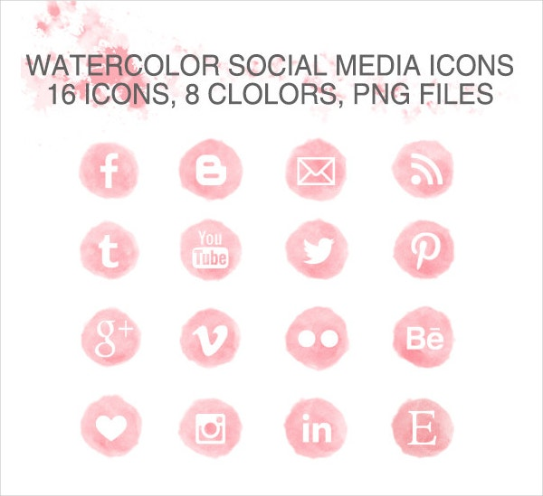 watercolor social media icons2