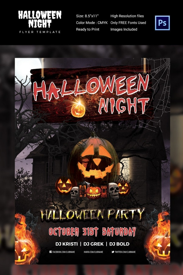 Dark House Halloween Night Flyer