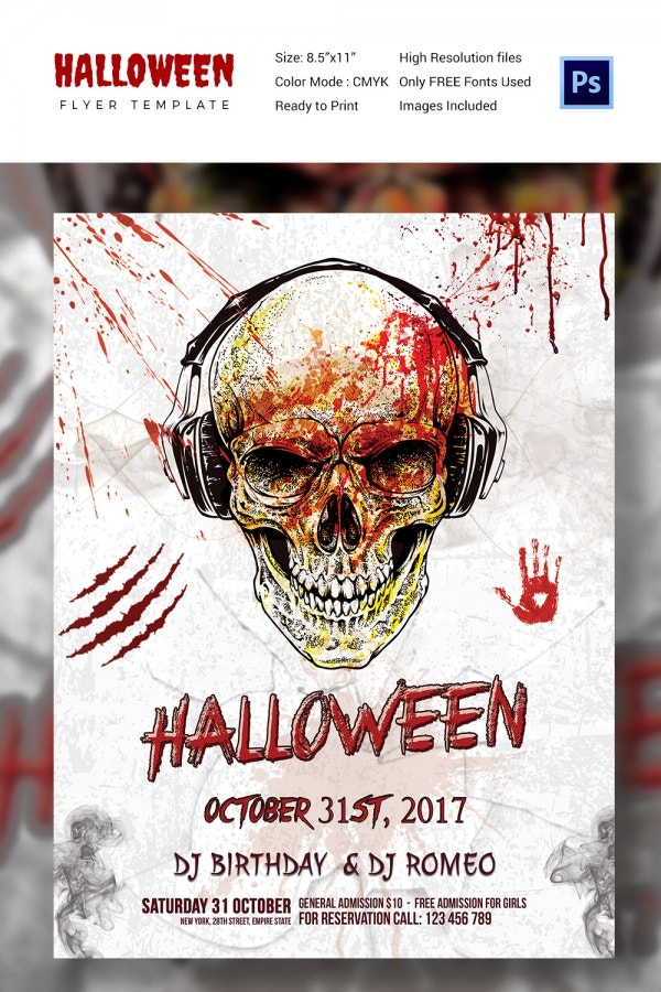 Halloween Skull Night Flyer Template