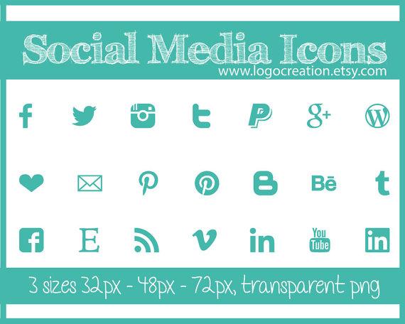 turquoise media icons