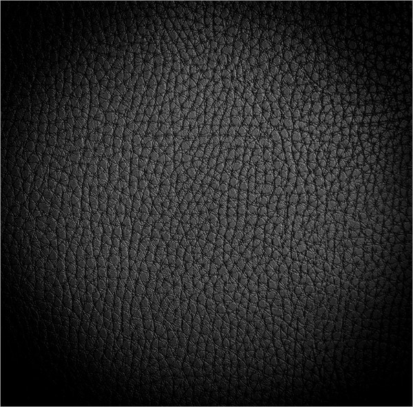 Black Coloured Leather Texture