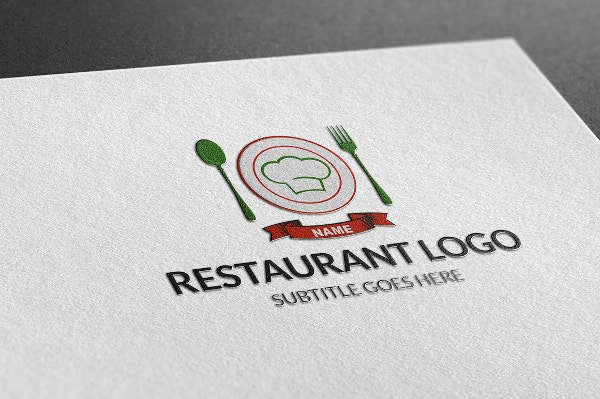 stylish restaurant logo