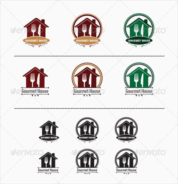gourmet house restaurant logo