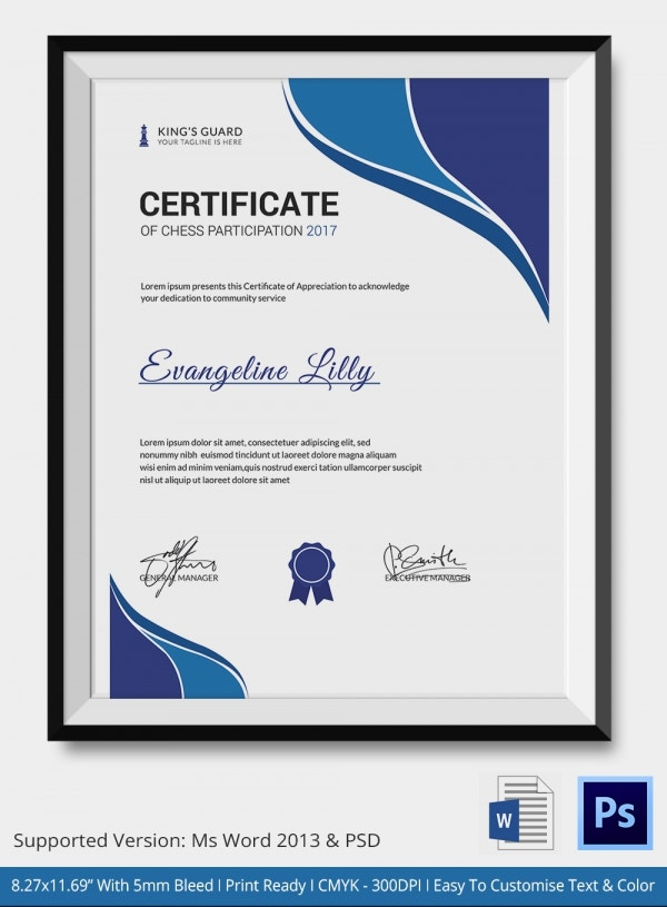 Award Certificates Templates Word