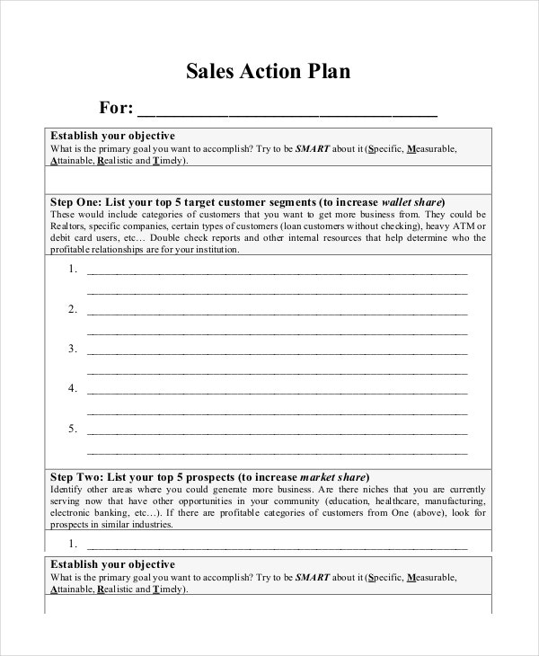 Action plan templates 9 free word pdf documents for Business plan to increase sales template