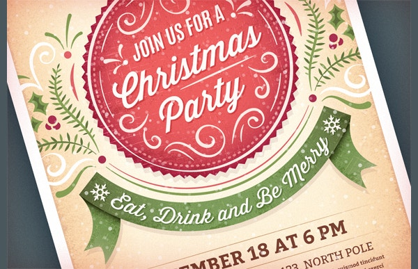 beautiful christmas party invitation template