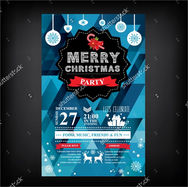 Christmas Restaurant Party Invitation