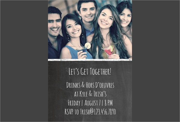 Get Together Party Invitation Template to Print