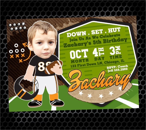 Printable Football Party Invitation