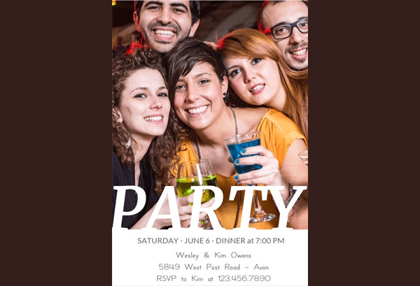 Party People Printable Party Invitation Template