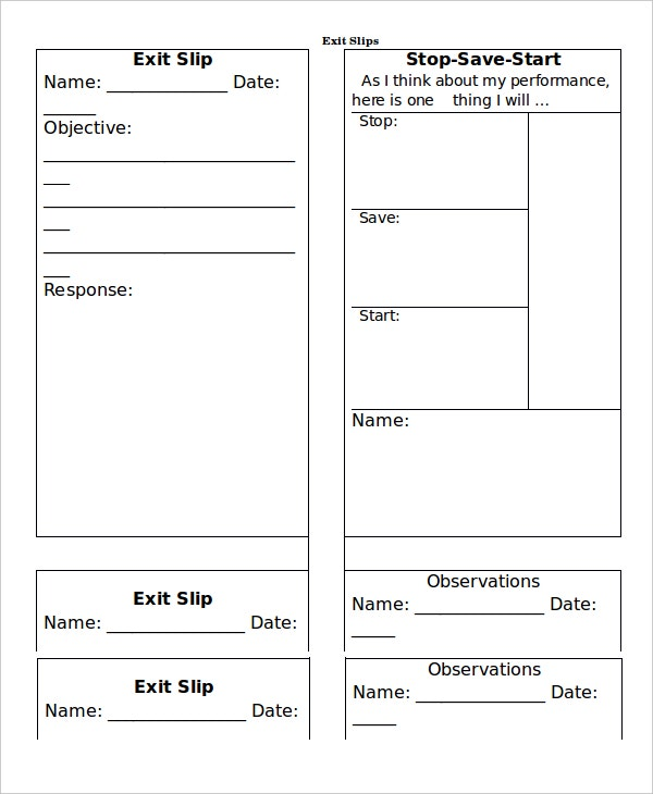 Slip Template   Free Word Pdf Documents Download  Free