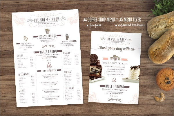 Coffee Menu and Coffee Template
