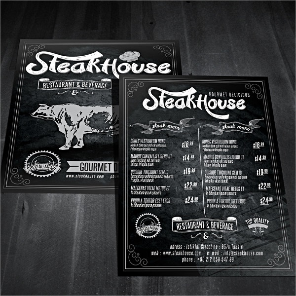 Vintage Restaurant Template Design