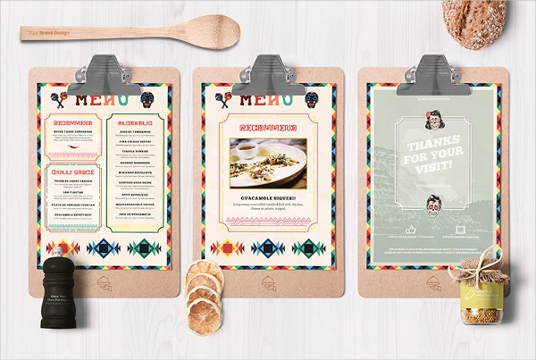 mexican style food menu