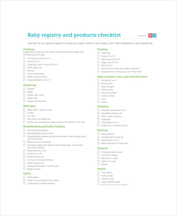 Little Baby Registry Checklist