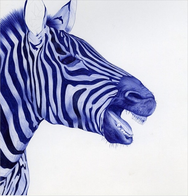 Zebra Ballpoint Artwork