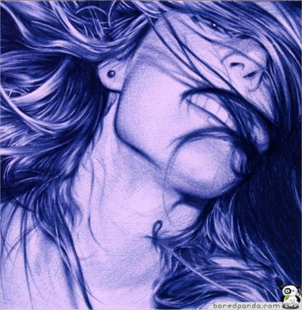 Photorealistic Drawing Ballpoint Artwork