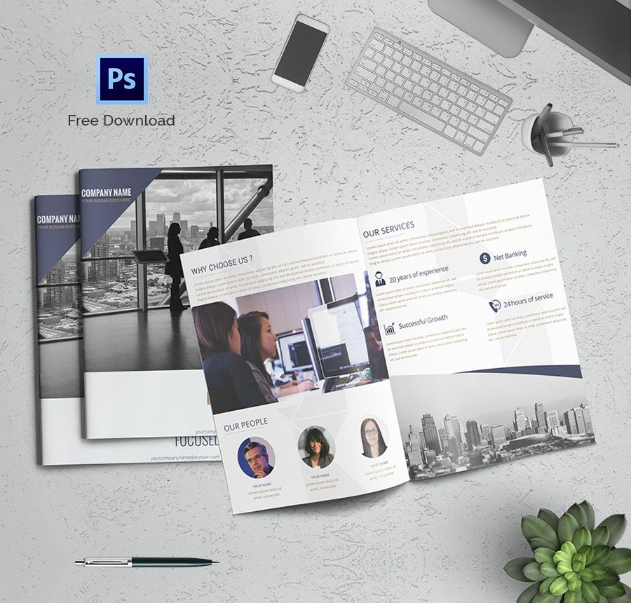 Freebie of the Day - Corporate BiFold Brochure