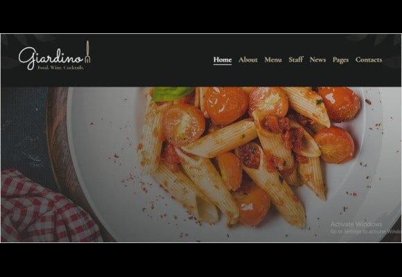 an italian restaurant cafe wordpress theme