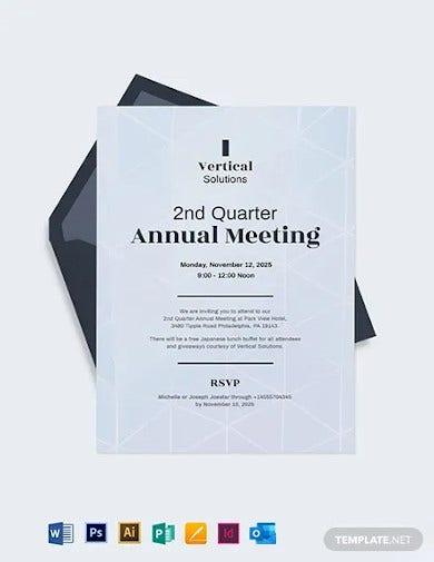 annual meeting invitation card template