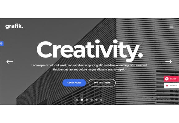 architecture and design portfolio theme