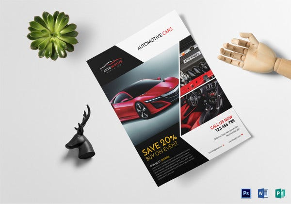 automotive car sales flyer template