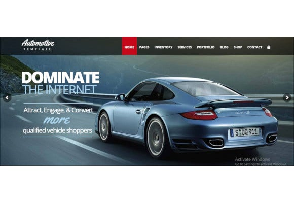 beautiful automotive wordpress theme