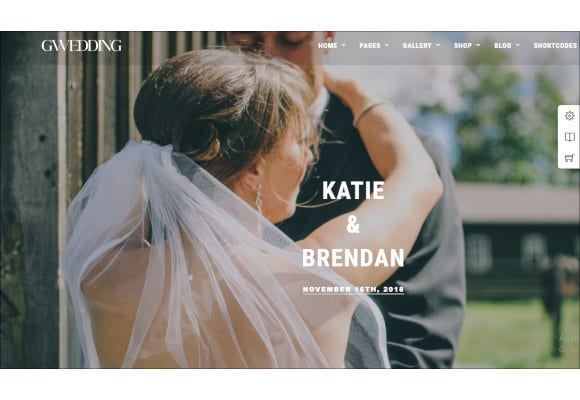 beautiful wedding wordpress theme
