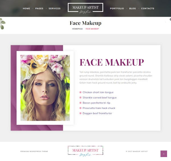 beauty and hair stylist wordpress theme