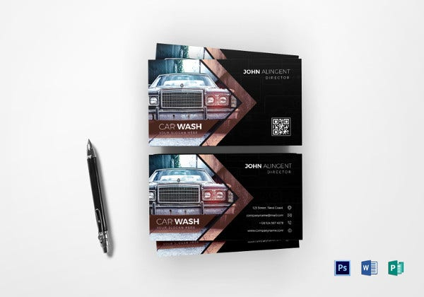 22 automotive business cards free psd ai eps format download car wash business card template fbccfo Choice Image