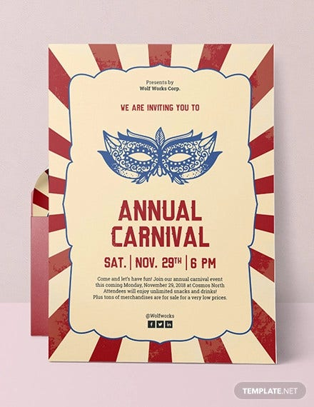 9 Circus Invitation Templates Free Editable Psd Ai Vector Eps