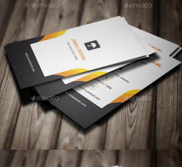 classic business cards template